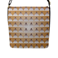 Pattern Retro Background Texture Flap Messenger Bag (l)