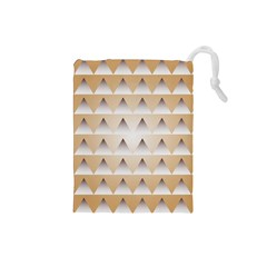 Pattern Retro Background Texture Drawstring Pouches (Small)