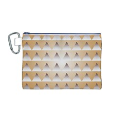 Pattern Retro Background Texture Canvas Cosmetic Bag (M)