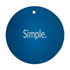 Simple Feature Blue Ornament (Round)