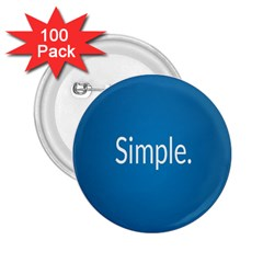 Simple Feature Blue 2.25  Buttons (100 pack)