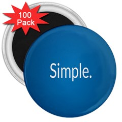 Simple Feature Blue 3  Magnets (100 pack)