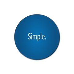 Simple Feature Blue Rubber Round Coaster (4 pack)
