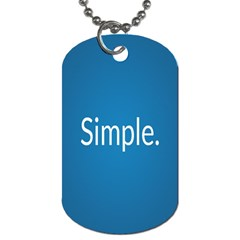 Simple Feature Blue Dog Tag (One Side)