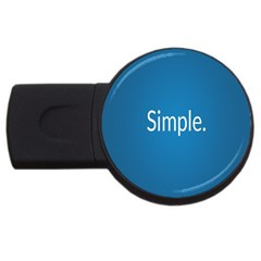 Simple Feature Blue USB Flash Drive Round (2 GB)