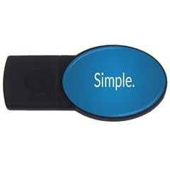 Simple Feature Blue USB Flash Drive Oval (2 GB)