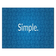 Simple Feature Blue Rectangular Jigsaw Puzzl