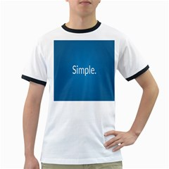 Simple Feature Blue Ringer T-Shirts