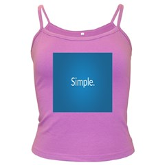 Simple Feature Blue Dark Spaghetti Tank