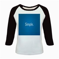 Simple Feature Blue Kids Baseball Jerseys