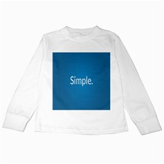 Simple Feature Blue Kids Long Sleeve T-Shirts