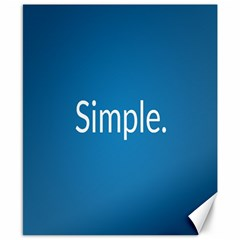 Simple Feature Blue Canvas 8  x 10