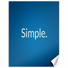 Simple Feature Blue Canvas 12  x 16