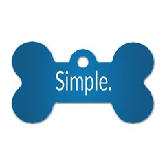 Simple Feature Blue Dog Tag Bone (Two Sides)