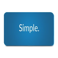Simple Feature Blue Plate Mats
