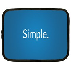 Simple Feature Blue Netbook Case (Large)