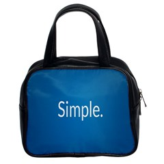 Simple Feature Blue Classic Handbags (2 Sides)