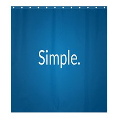 Simple Feature Blue Shower Curtain 66  x 72  (Large)