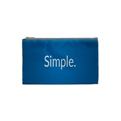 Simple Feature Blue Cosmetic Bag (Small)