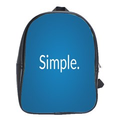 Simple Feature Blue School Bags(Large)