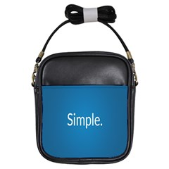 Simple Feature Blue Girls Sling Bags