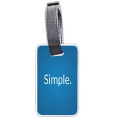 Simple Feature Blue Luggage Tags (One Side)