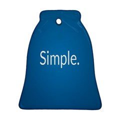 Simple Feature Blue Bell Ornament (Two Sides)