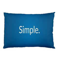 Simple Feature Blue Pillow Case (Two Sides)