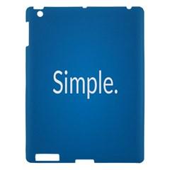 Simple Feature Blue Apple iPad 3/4 Hardshell Case
