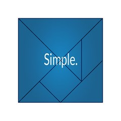 Simple Feature Blue Acrylic Tangram Puzzle (4  x 4 )