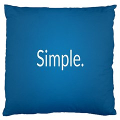 Simple Feature Blue Large Cushion Case (Two Sides)