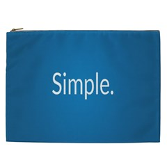 Simple Feature Blue Cosmetic Bag (XXL)