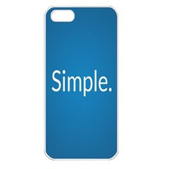 Simple Feature Blue Apple iPhone 5 Seamless Case (White)
