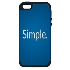 Simple Feature Blue Apple iPhone 5 Hardshell Case (PC+Silicone)