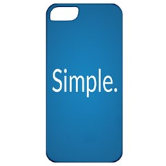 Simple Feature Blue Apple iPhone 5 Classic Hardshell Case