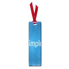 Simple Feature Blue Small Book Marks