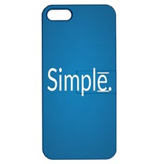 Simple Feature Blue Apple iPhone 5 Hardshell Case with Stand