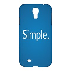Simple Feature Blue Samsung Galaxy S4 I9500/I9505 Hardshell Case