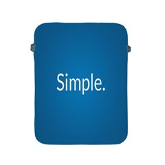 Simple Feature Blue Apple iPad 2/3/4 Protective Soft Cases