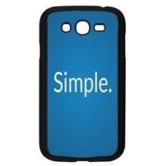 Simple Feature Blue Samsung Galaxy Grand DUOS I9082 Case (Black)