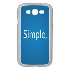 Simple Feature Blue Samsung Galaxy Grand DUOS I9082 Case (White)