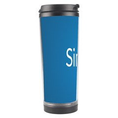 Simple Feature Blue Travel Tumbler