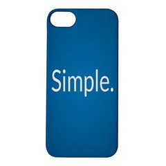Simple Feature Blue Apple iPhone 5S/ SE Hardshell Case
