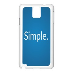 Simple Feature Blue Samsung Galaxy Note 3 N9005 Case (White)