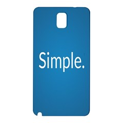 Simple Feature Blue Samsung Galaxy Note 3 N9005 Hardshell Back Case