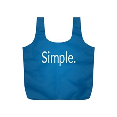 Simple Feature Blue Full Print Recycle Bags (S)