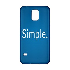 Simple Feature Blue Samsung Galaxy S5 Hardshell Case