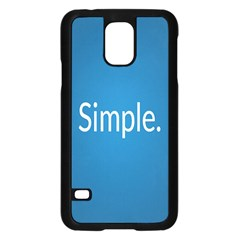 Simple Feature Blue Samsung Galaxy S5 Case (Black)