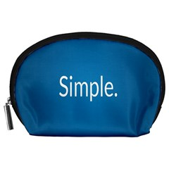 Simple Feature Blue Accessory Pouches (Large)