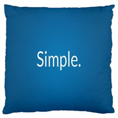 Simple Feature Blue Large Flano Cushion Case (Two Sides)
